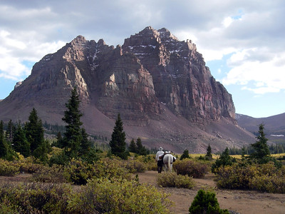 Enjoying the majesty of Red Castle in Utah's High Uintas Wilderness, Sept, 2008 — Photo by Matt McKell