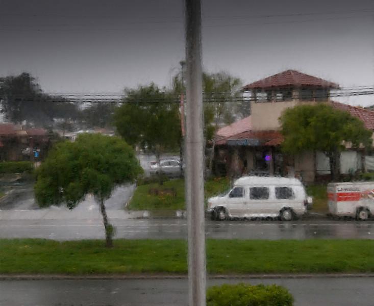 Motel rain, California, March