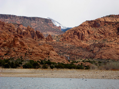 View of the LaSal Mountains from Kens Lake on 4-5-08.  Photo by Tom Ogden.