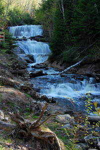 Waterfall at Pictured Rocks National Park, Michigan