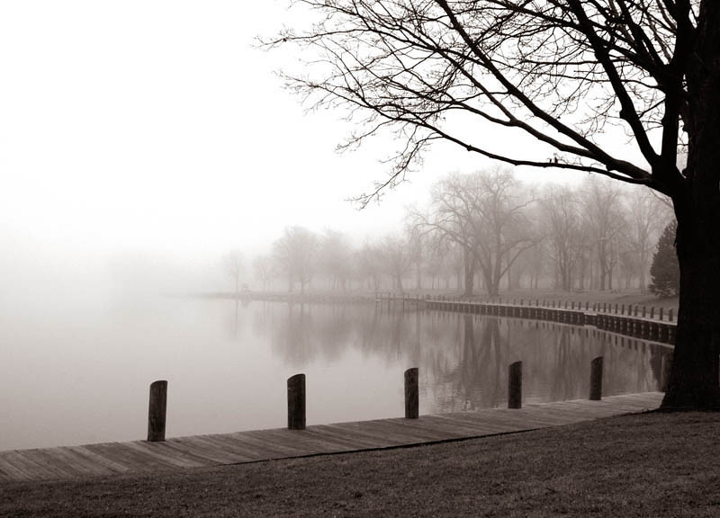 Title: Morning Still (Riverside Park, Neenah WI)<br /> Framed prints available at ART AFFAIR, Neenah, WI