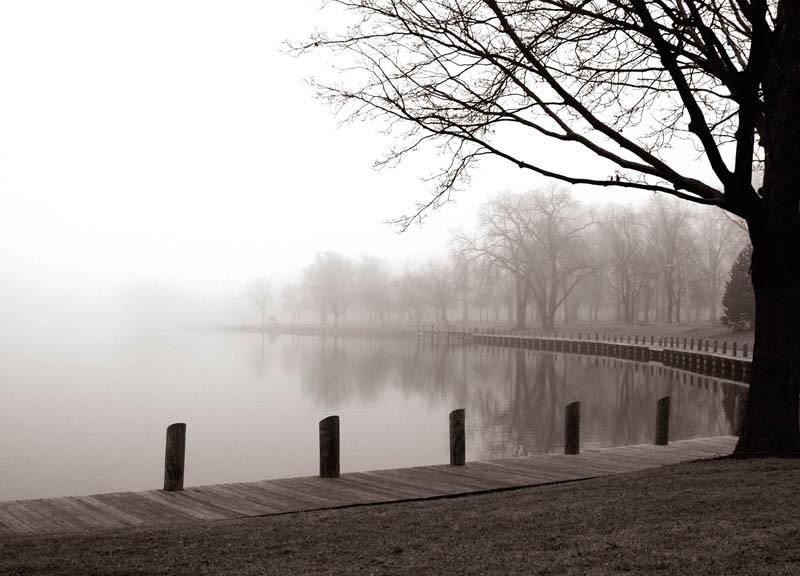 Title: Morning Still (Riverside Park, Neenah WI)<br /> Framed prints available at ART AFFAIR, Neenah, WI