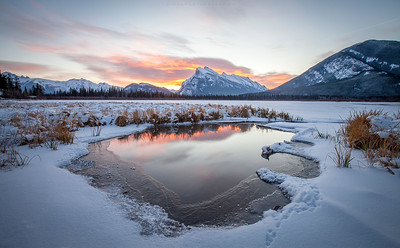Cold Vermillion Lakes Sunrise