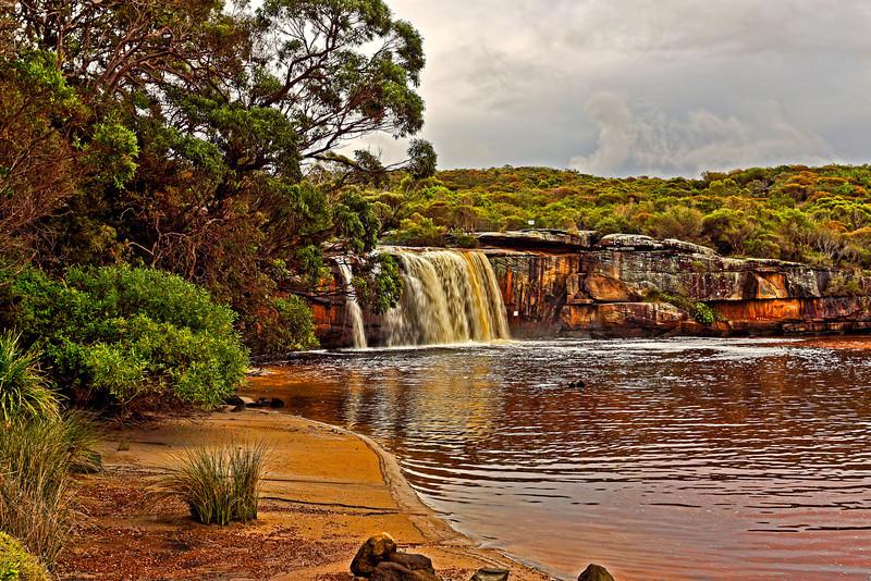 Royal National Park, NSW Australia<br />  Part of Wattamolla beach<br /> <br />  29th June 2013<br />  Canon 6D+EF 17-40mm f/4L, ISO 100, FL 40mm, f/11, 1/20sec