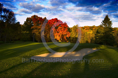 The 13th Green at Oak Hill Golf Club in Milford, NJ.
