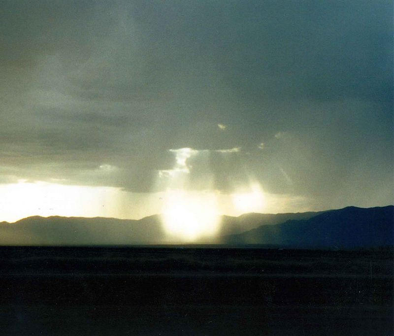 This picture was taken while driving through Hope Arizona.