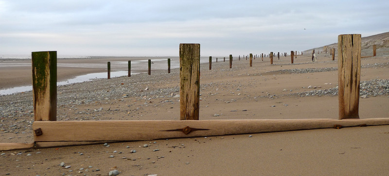 Pilings on Allonby beach