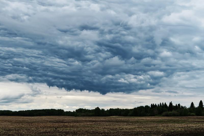 Storm front near Thorhild, AB