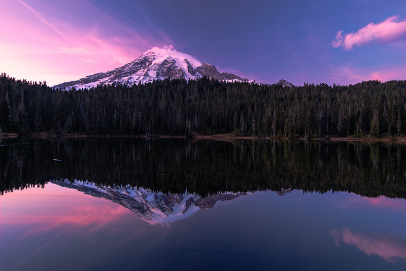 Reflection Lakes Sunset