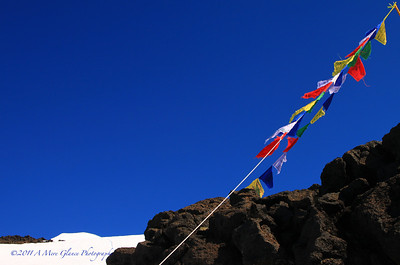 Tibetan Prayer Flag, Mt Adams, WA