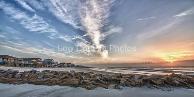 Pawleys Island Beach Sunrise over the Jettys - (South end public beach) The Watermark will not show on printed images