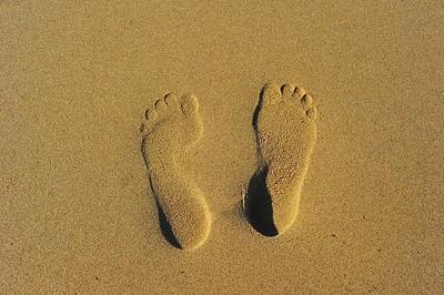 My foot prints, Kelantan, Malaysia
