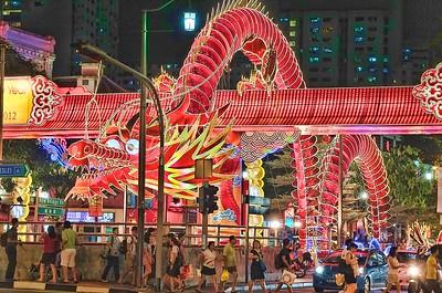 Celebrating Lunar New Year 2012, Chinatown, Singapore