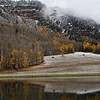 First Snow w/lake reflection