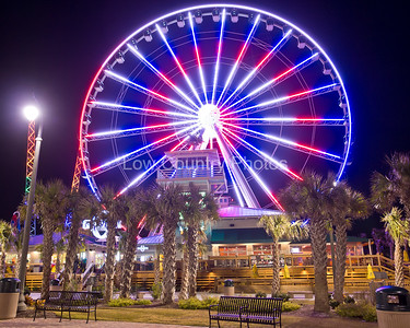Myrtle Beach Sky Wheel as viewed on Memorial Day. The Watermark will not show on printed images
