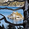 A window to Emerald Bay, Lake Tahoe