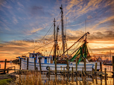 Shrimp Boat in the Sunset