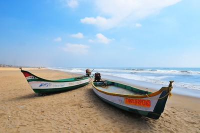 Fishing Boats, Golden Beach, Chennai, India