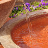 Terracotta Fountain with Flowers