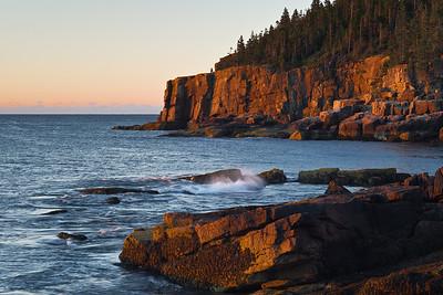 Sunrise on Otter Cliff