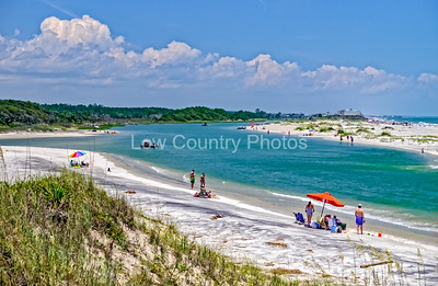 Looking across the channel to the Pawleys Island Public Beach