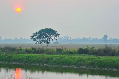 Sunset, Ninh Binh, Vietnam