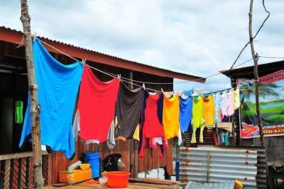 Flags, Tuaran Village, Sabah, E. Malaysia