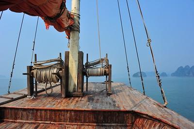 On board the junk, Bai Tu Long Bay, Vietnam