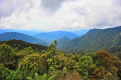 View from Gunung (Mount) Brinchang summit at 6,666 feet, Cameron Highlands, Malaysia