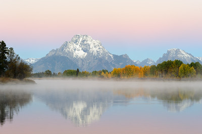 Mount Moran in Pastels