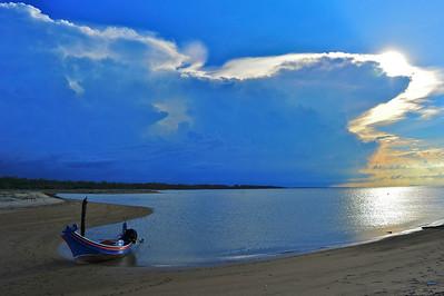 Kampong Suri Pantai (beach) at Kelantan, Malaysia