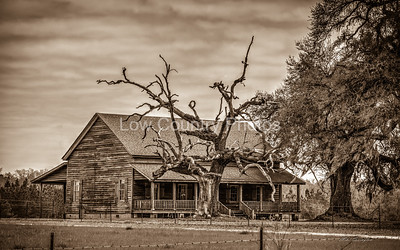 Country Home - In Sepia