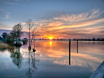 Sunset on the River Pawleys Island, SC The Watermark will not show on printed images