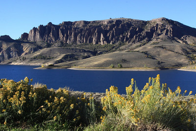 Late sun on the Blue Mesa reservoir