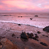 San Simeon Beach Turned Red
