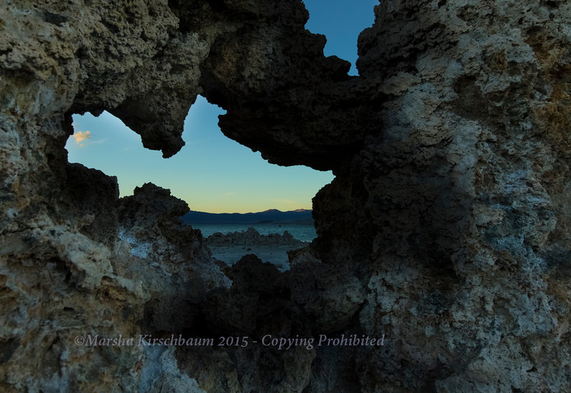 View Through the Tufas at Mono Lake