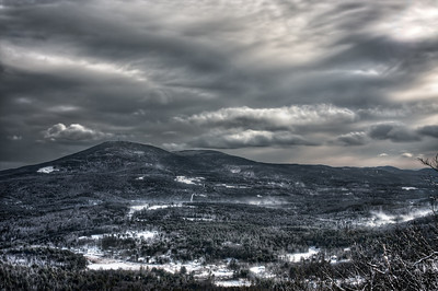 Mt. Kearsarge from Bog Mountain - Winter Wilmot, NH