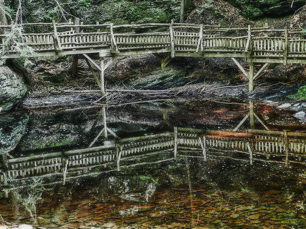 Reflection of a Bridge