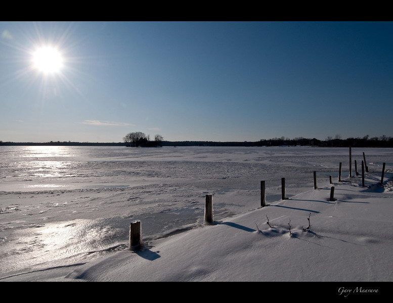 Lake Puslinch on a December morning.  Cambridge, Ontario.