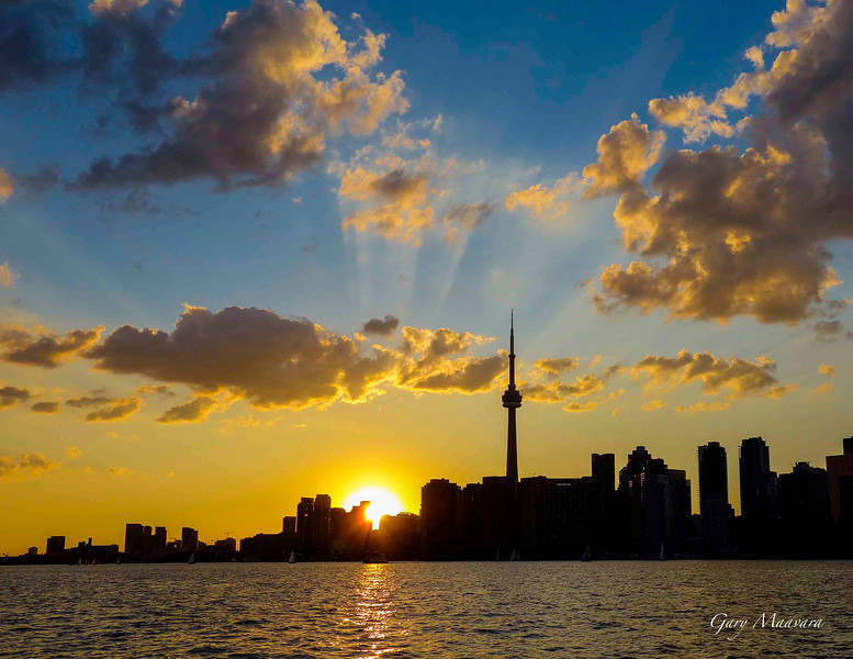 August sunset - Toronto harbour