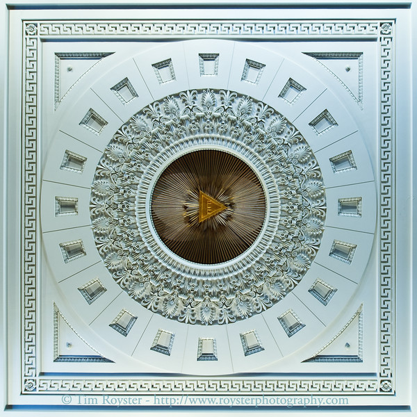 Cutout view of ceiling in St. Paul's Episcopal Church in downtown Richmond, VA
