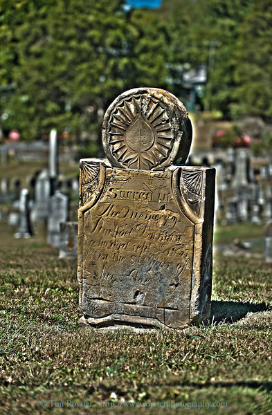 Tomb stone in cemetary in Lewisburg, WV