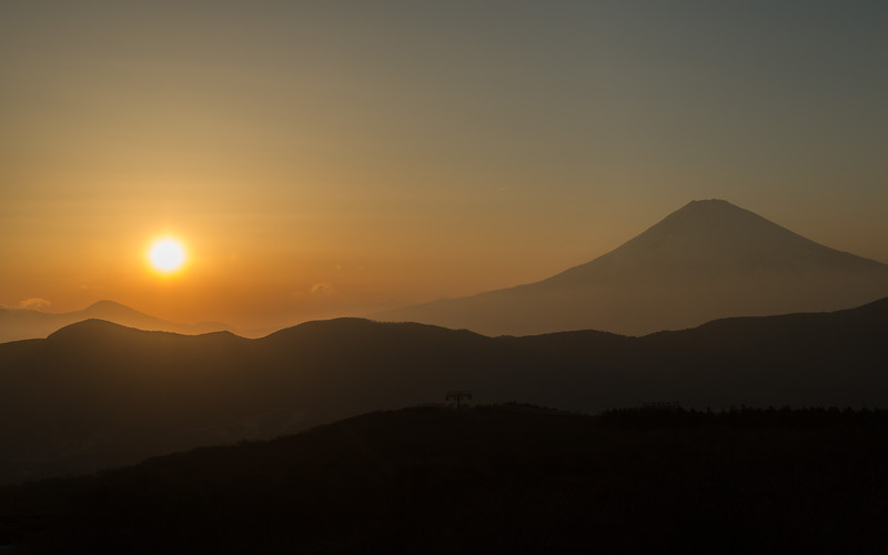 Mount Fuji observed from Owakudani Hot Springs