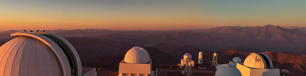 CTIO Sunset Panorama from Blanco Telescope Dome