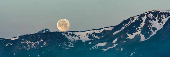 Moon Setting at Lake Tahoe