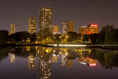 Lincoln Park Lagoon at Night