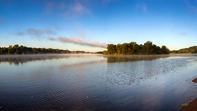 Early Morning Mist on Wisconsin River