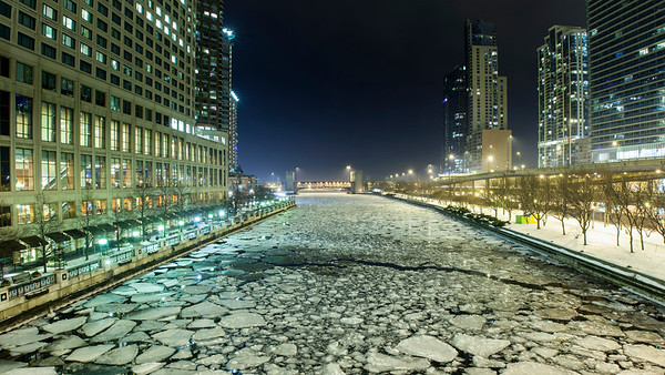 Icey Chicago River