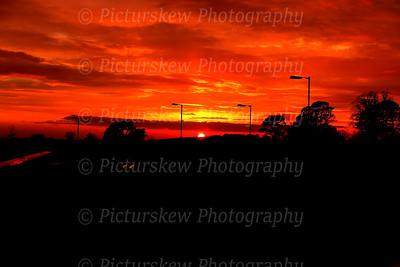 Sunset Hillsborough Co Down_April 2014