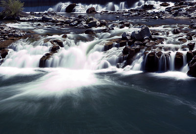 Long exposure of Idaho Falls, Idaho 2005